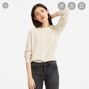 Everlane cotton linen crew neck sweater S